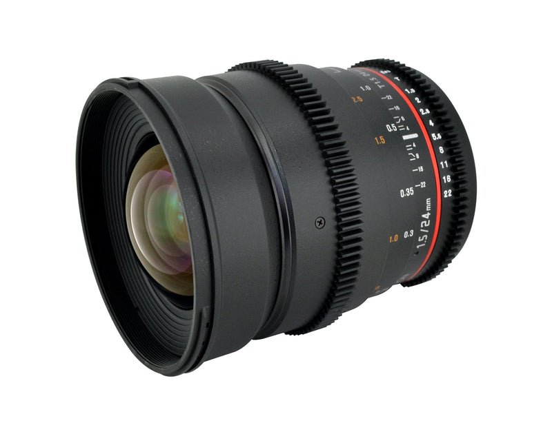 Rokinon Cine CV24M-N 24mm T1.5 Cine Wide Angle Lens  for Nikon with De-Clicked Aperture and Follow Focus Compatibility 2