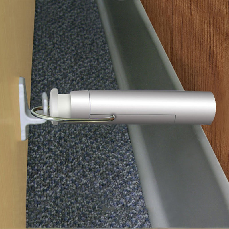 Sierra Tools 82-5351 Fast Installation Automatic Door Stop, Silver