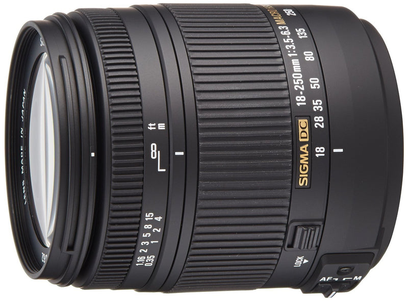 Sigma 18-250mm f3.5-6.3 DC MACRO OS HSM for Nikon Digital SLR Cameras - International Version (No Warranty)