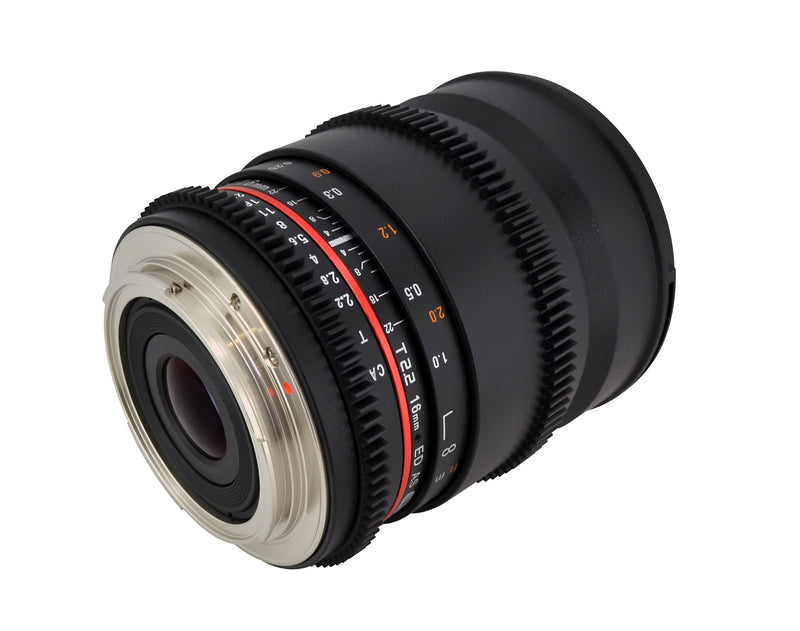 Rokinon CV16M-N 16mm T2.2 Cine Wide Angle Lens for Nikon F Mount Cameras