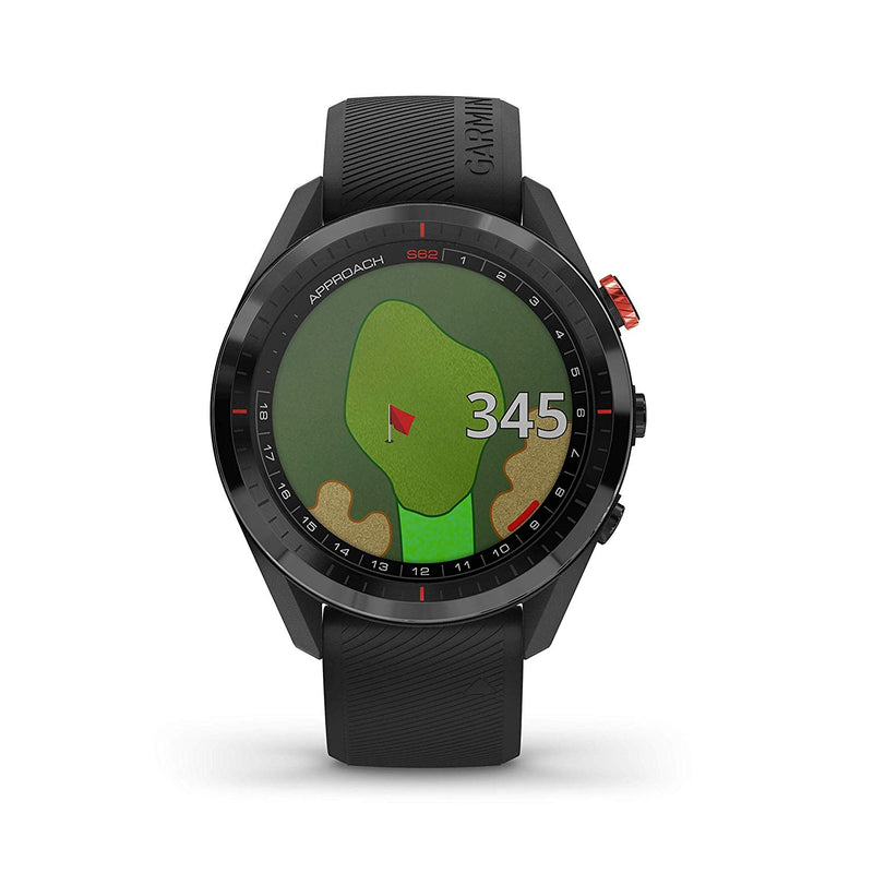 Garmin Approach S62, Premium Golf GPS Watch, Built-in Virtual Caddie, Mapping and Full Color Screen, Black