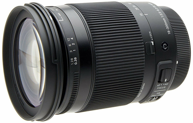 Sigma 18-300mm F3.5-6.3 DC Macro OS HSM (C) for Nikon (DX) Cameras (International Model no Warranty)