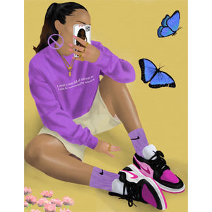 NIKE BUTTERFLY Poster (Inspired by @sallyssneakers)