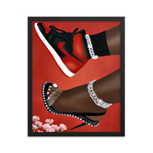 Load image into Gallery viewer, She Can Do Both (RED) Framed poster