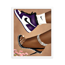 Load image into Gallery viewer, She Can Do Both GRAPE Framed poster