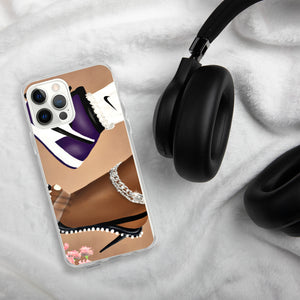 She Can Do Both GRAPE iPhone Case