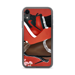 She Can Do Both RED iPhone Case