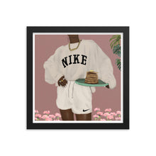 Load image into Gallery viewer, CHOCOLATE NIKE PANCAKES Framed poster