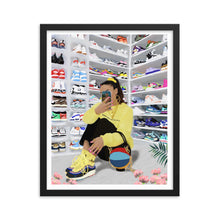 "Load image into Gallery viewer, HYPEBEAST Framed poster ""Inspired by @sallyssneakers"""