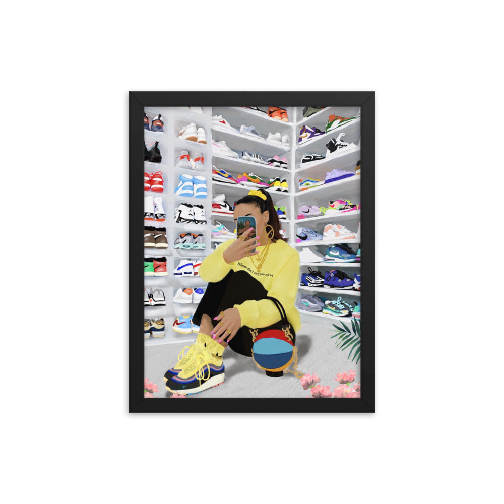 "HYPEBEAST Framed poster ""Inspired by @sallyssneakers"""