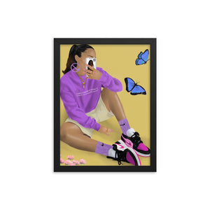 NIKE BUTTERFLY Framed poster (Inspired by @sallyssneakers)