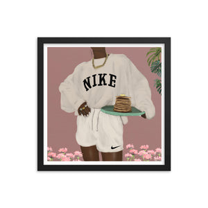 CHOCOLATE NIKE PANCAKES Framed poster