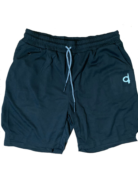 Athletic Compression Shorts with Pocket and Towel Loop