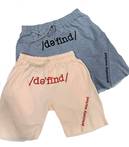 Precisely Marked Jogger Shorts