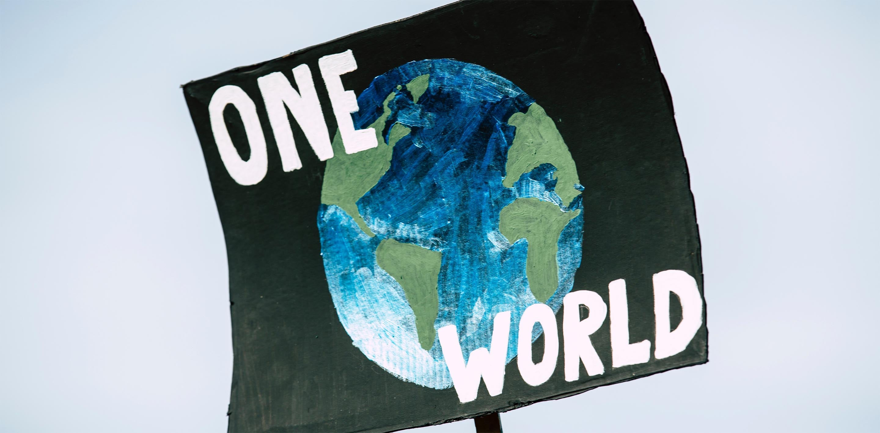 banner photo of environmental action sign