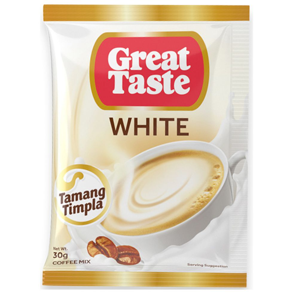 Great Taste 3 In 1 White Coffee Mix 30 g 10 pcs