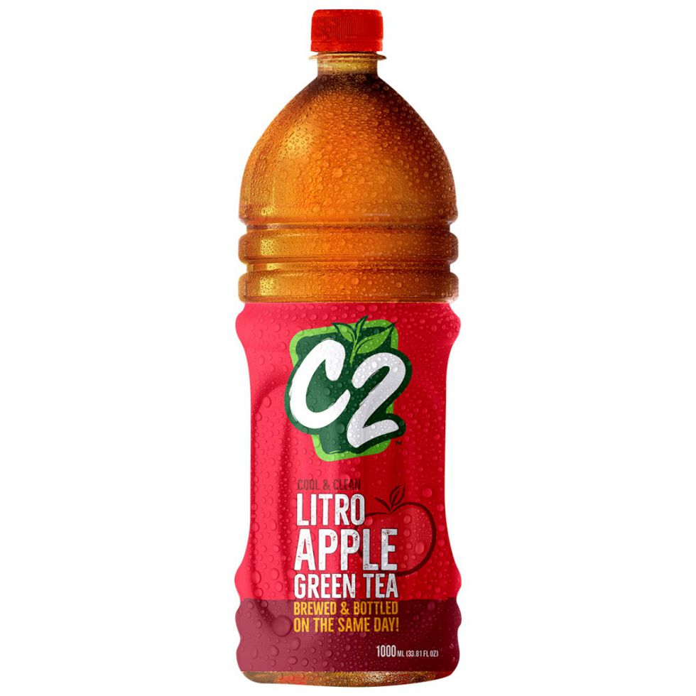 C2 Green Tea Apple 1L