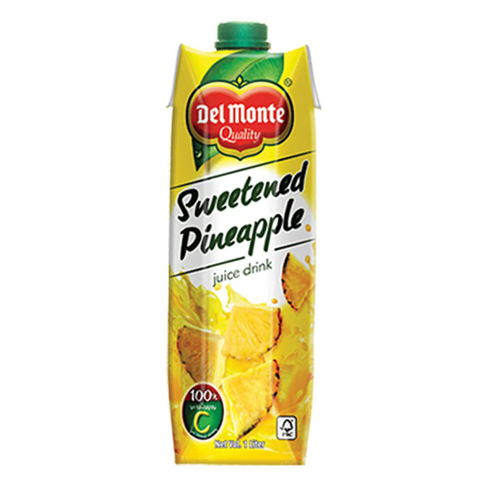 Del Monte Juice Drink Sweetened Pineapple 1L