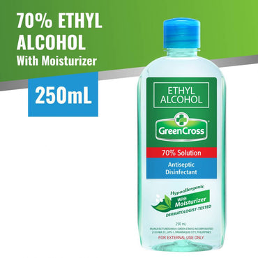 Green Cross Alcohol 70% with Moisturizer Ethyl 250mL