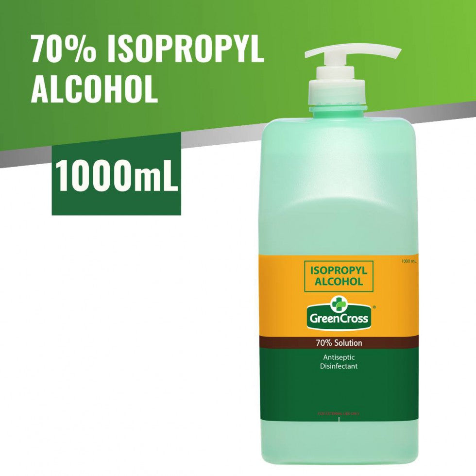 Green Cross Alcohol 70% Solution Isopropyl 1000mL