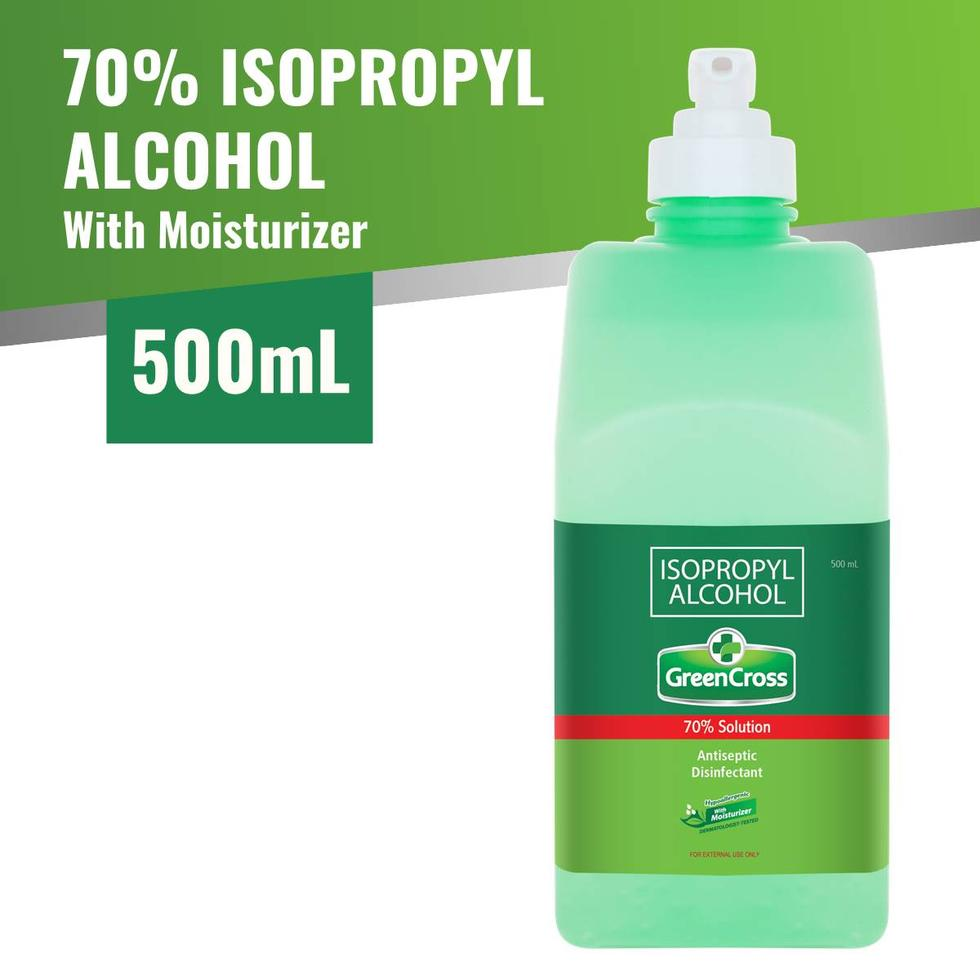 Green Cross Alcohol 70% with Moisturizer 500mL