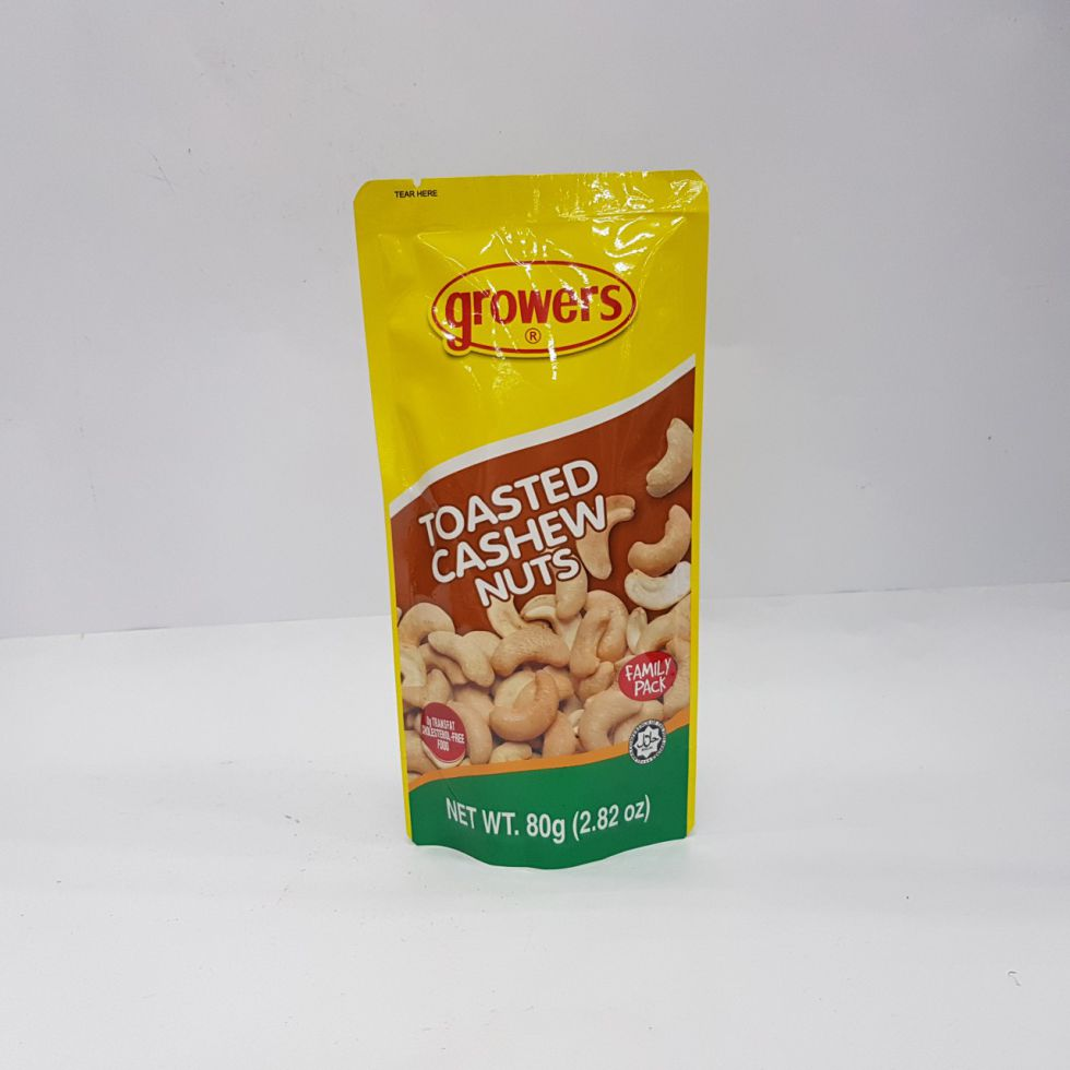 Growers Toasted Cashew Nuts 80 g