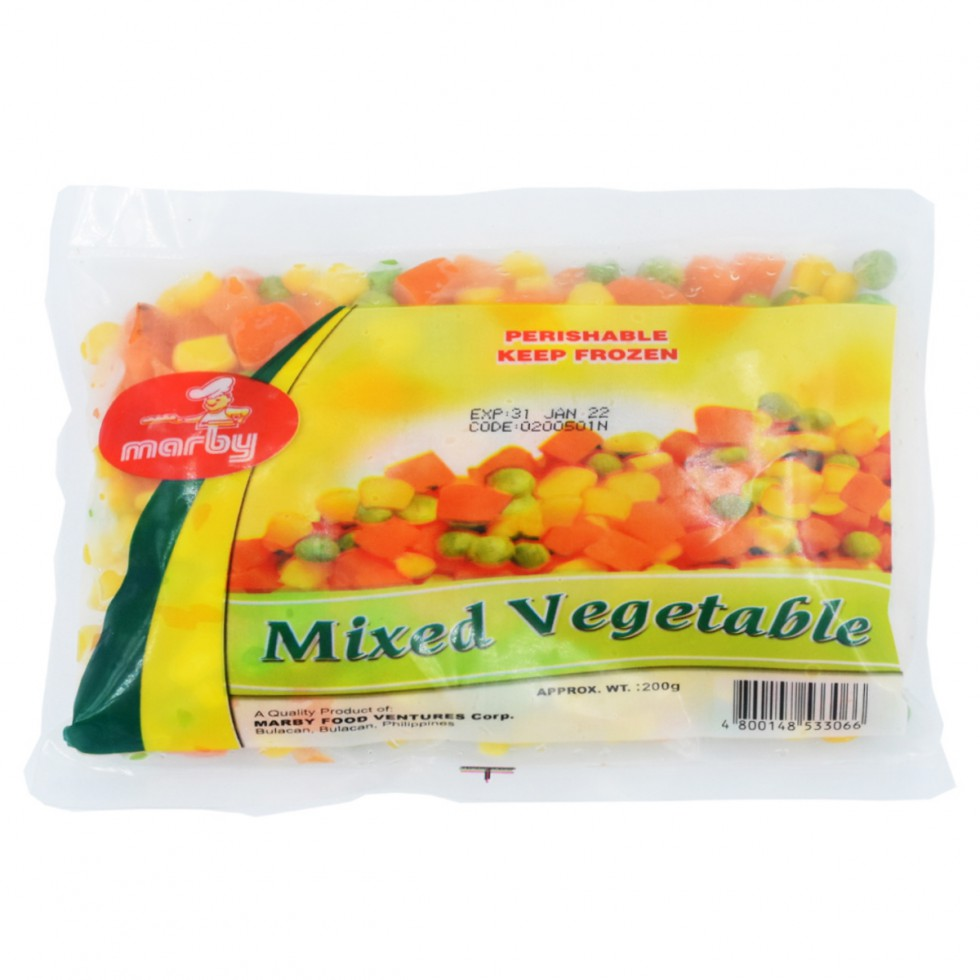 Marby Mixed Vegetable 200G