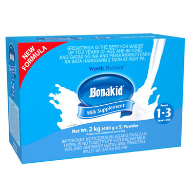 Bonakid Stage 3 Powdered Milk Drink For Children 1 To 3 Years Old Bag In Box Plain 2Kg