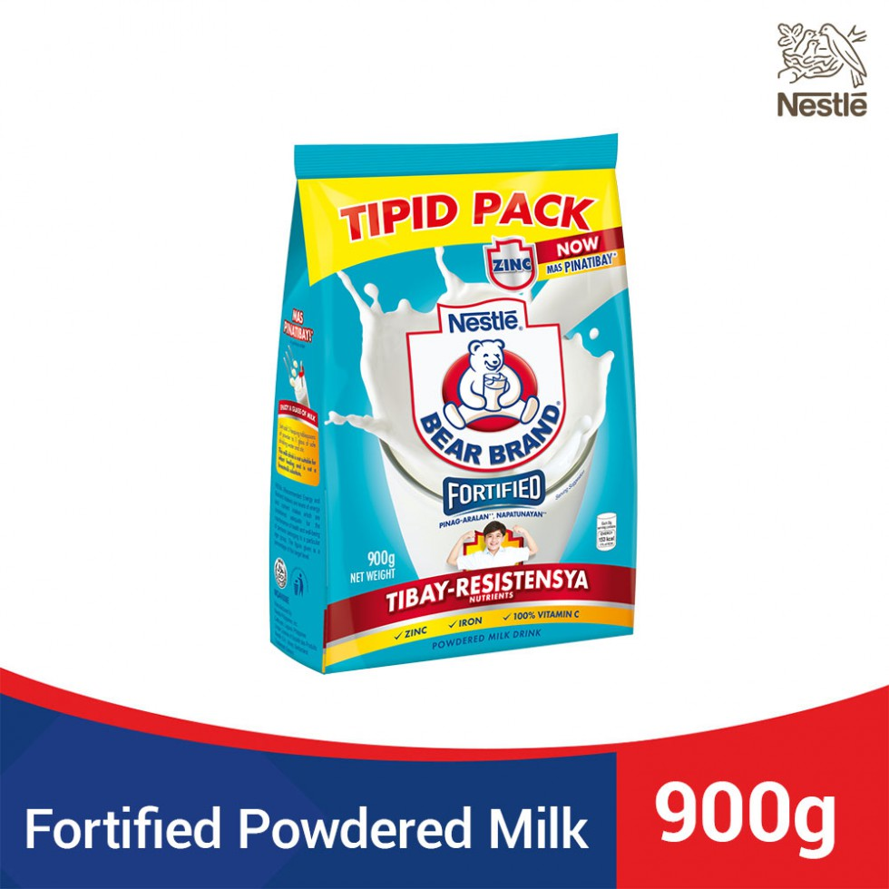 Bear Brand Fortified Milk Drink with Iron Tipid Pack 900G