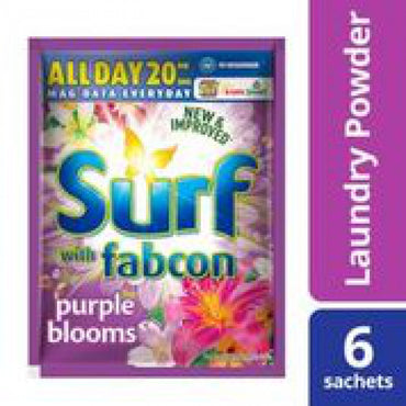 Surf Powder With Fabric Conditioner 6S Purple Blooms 50G