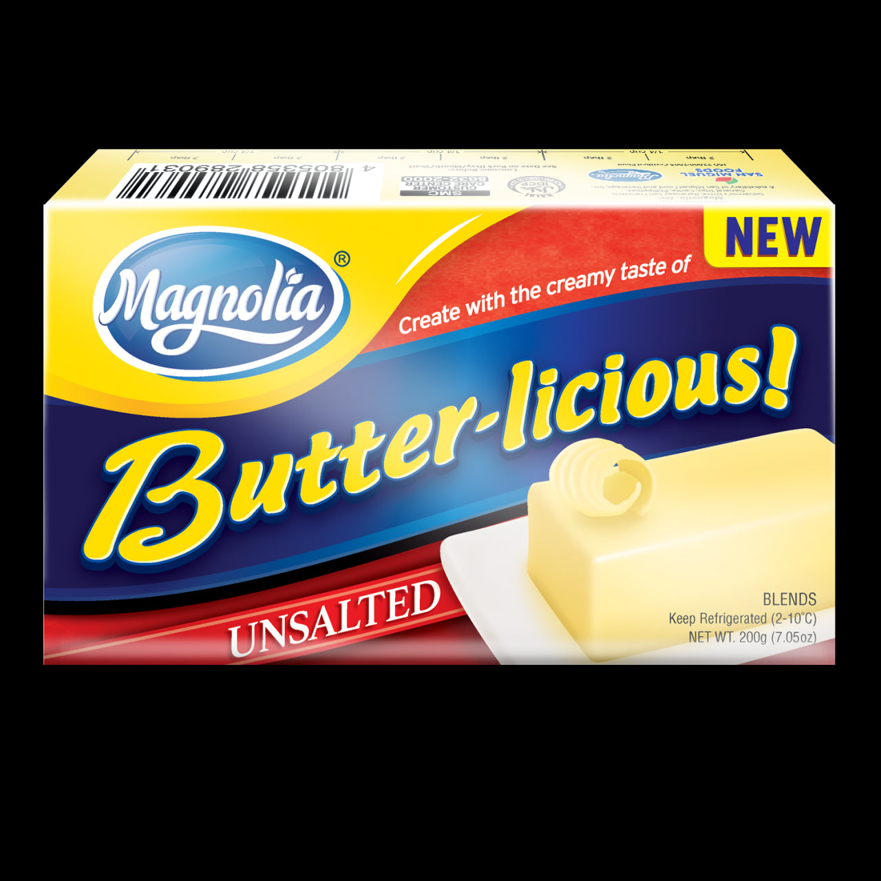 Magnolia Butterlicious Unsalted 200G