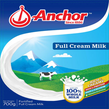 Anchor 100% Fortified Full Cream Milk 700G