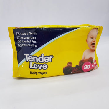 Tender Love Baby Wipes Yellow 80pcs