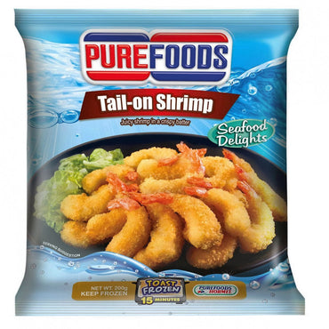 Purefoods Frozen Tail-On Shrimp 200G