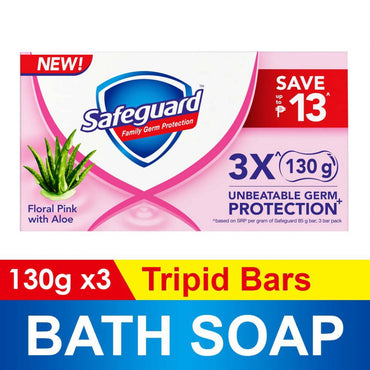 Safeguard Bar Pink 3Pid Floral Pink With Aloe 130G