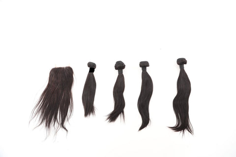 Brazilian Straight Bundle Deals with Closure