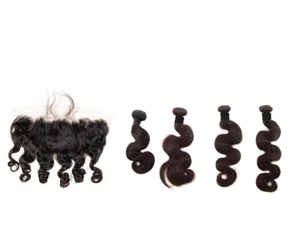Brazilian Body Wave Bundle Deals with Frontal