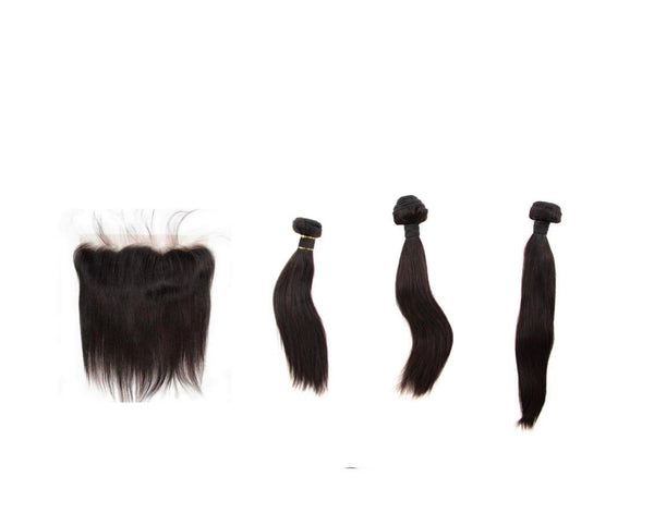 Brazilian Straight Bundle Deals with Frontal