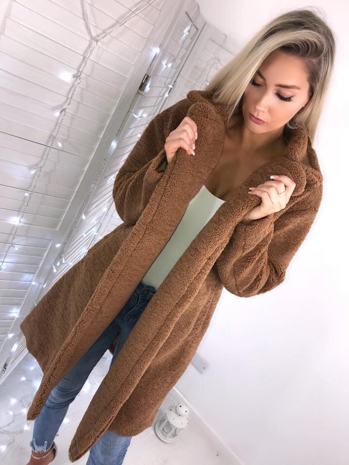 'Ashton' LUXE Brown Teddy Coat
