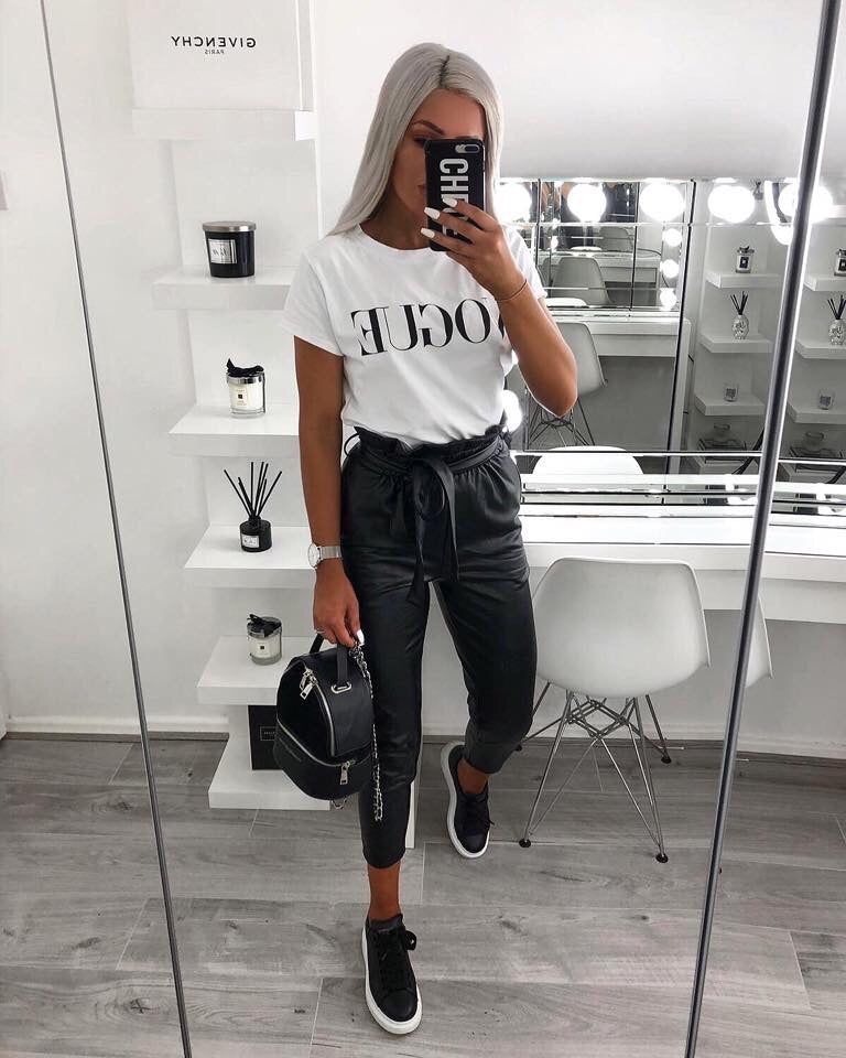 'VOGUE' White Slogan Tee