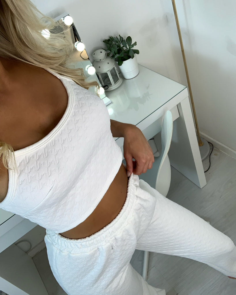 'Marnie' White Textured Co-Ord Set