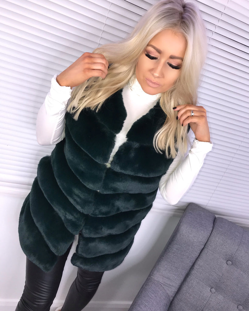 'Hope' Emerald Green  Super Soft Faux-Fur Gilet