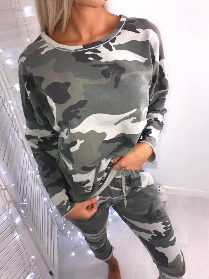 'Andre' Camo Two-Piece Loungesuit