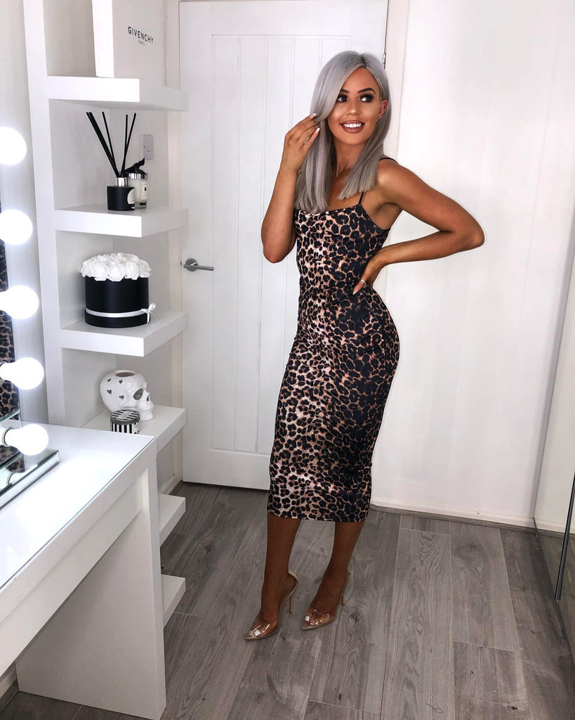 'Jools' Animal Print Midi Dress