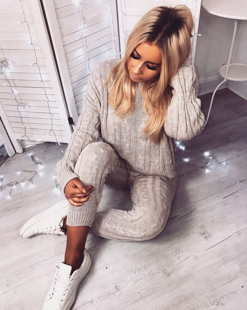 'Peyton' Biscuit Knitted Loungesuit