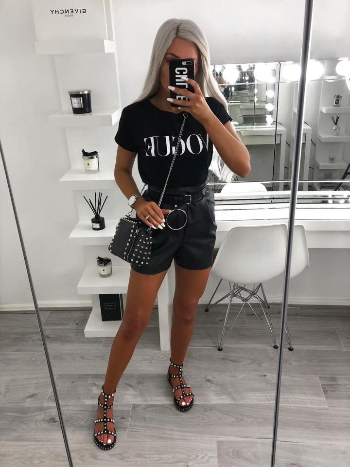 'VOGUE' Black Slogan Tee