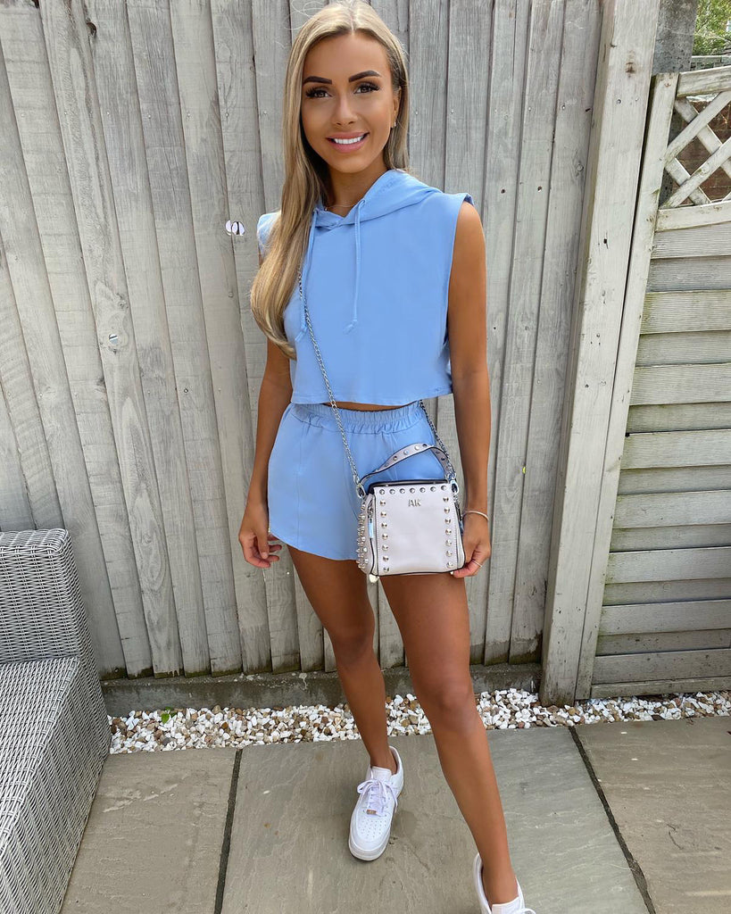 'Liza' Blue Top & Shorts Co-Ord Set