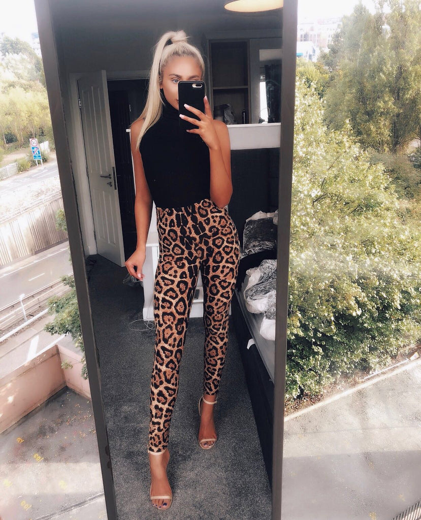 'Blake' Leopard Print High-Waisted Leggings