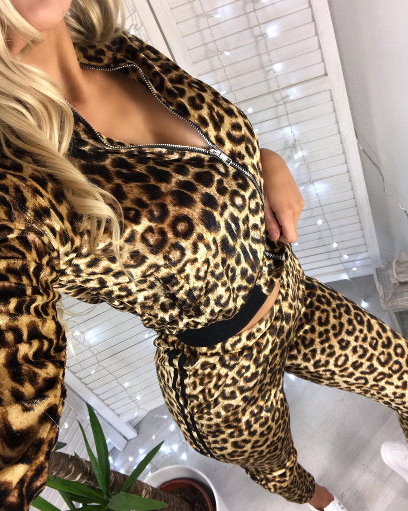 'Ally' Animal Print Zip-Front Loungesuit