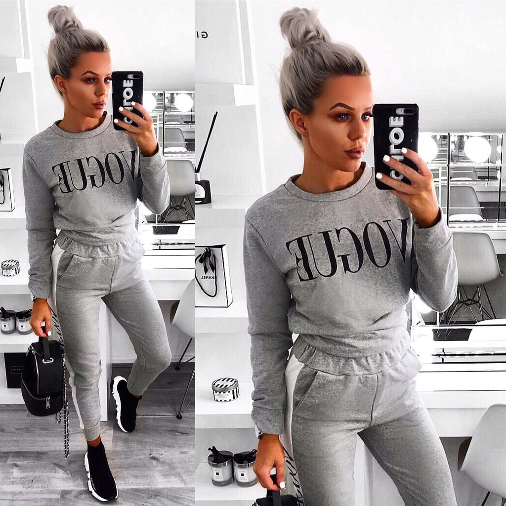 'VOGUE' Grey Two Piece Loungesuit